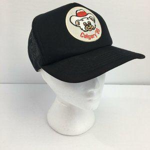 Calgary 88 Mesh Bear Mascot Trucker Hat Cap